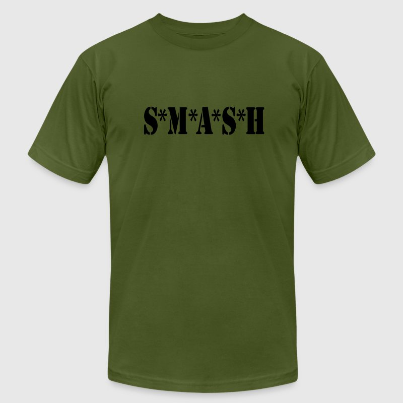 Olive SMASH Volleyball T-Shirts (Short sleeve) - Men's T-Shirt by American Apparel