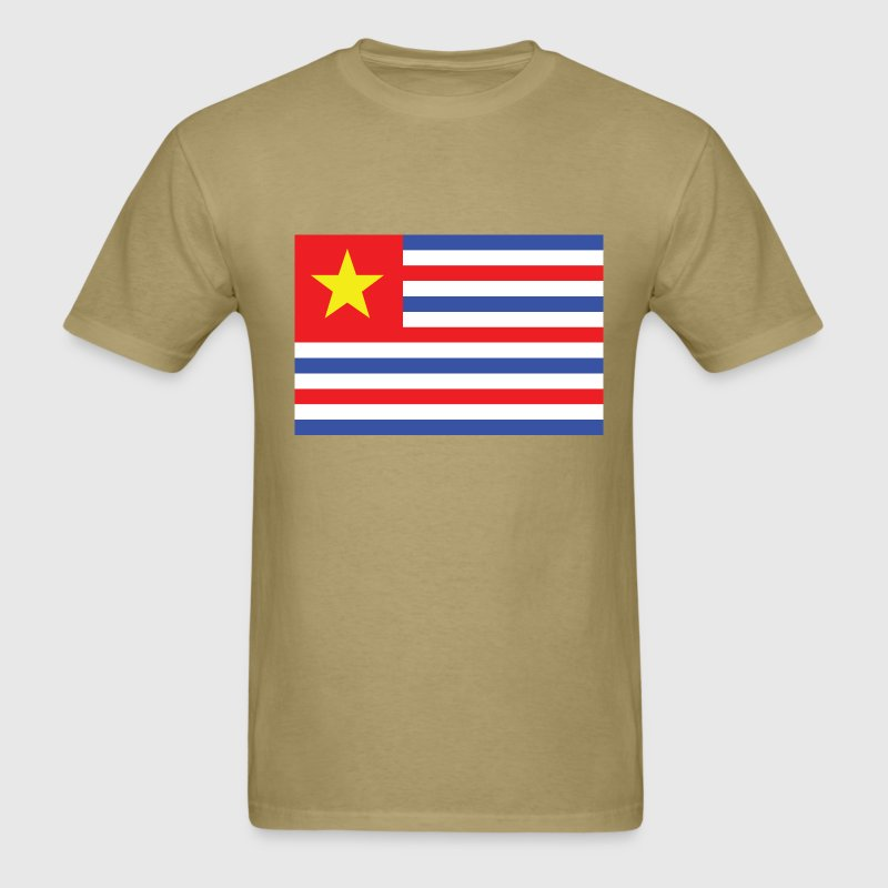 Khaki Louisiana Confederate / NAUTEE.com T-Shirts - Men's T-Shirt