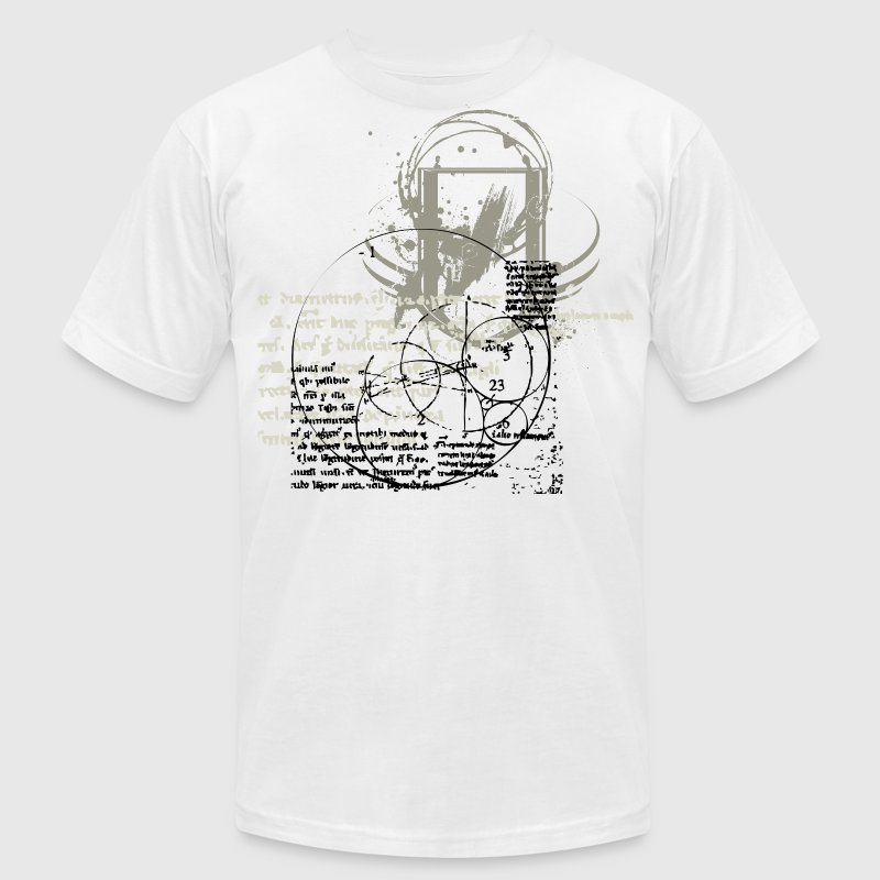 White Cool Artisitc Shield Designer Graphic T-Shirts - Men's T-Shirt by American Apparel