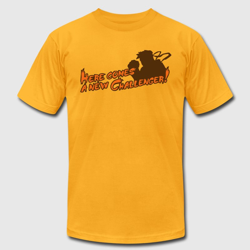Gold Here comes a new challenger! T-Shirts - Men's T-Shirt by American Apparel