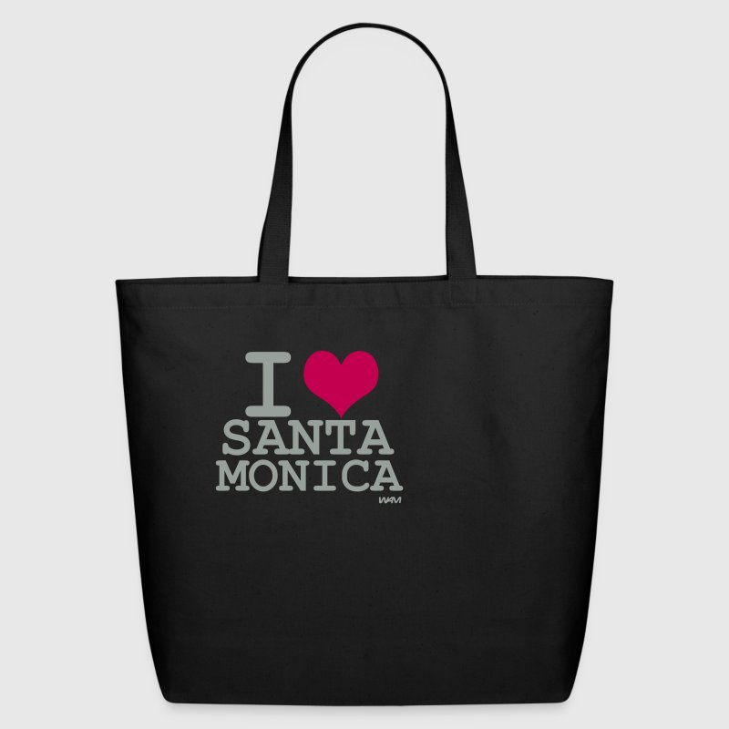 Black i love santa monica by wam Bags  - Eco-Friendly Cotton Tote