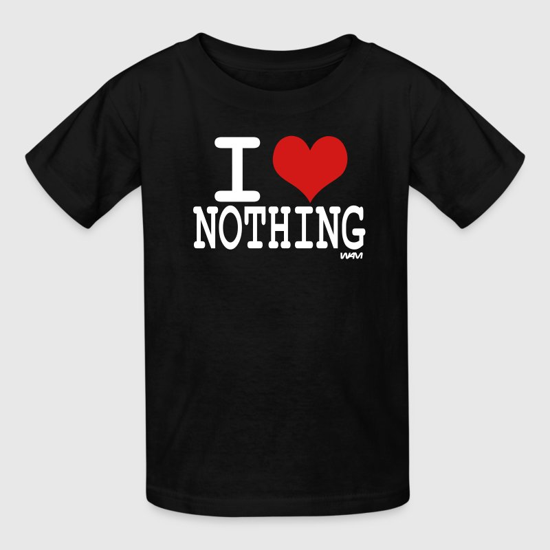 Black i love nothing by wam Kids Shirts - Kids' T-Shirt