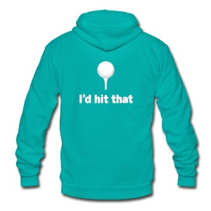 I'd Hit That American Apparel Tee - Unisex Fleece Zip Hoodie by American Apparel