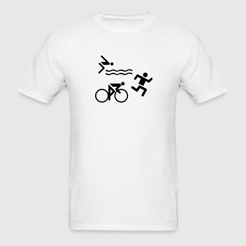 White Triathlon T-Shirts - Men's T-Shirt