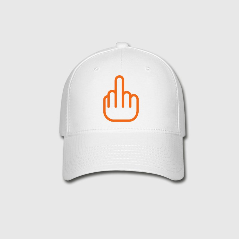 White Fuck You Finger Caps - Baseball Cap