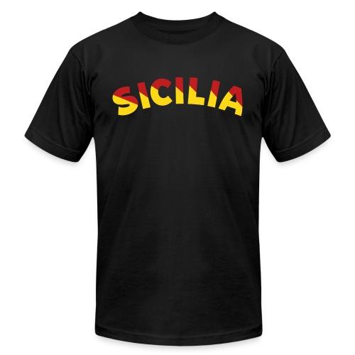 SICILIA AA T, Black - Men's Fine Jersey T-Shirt