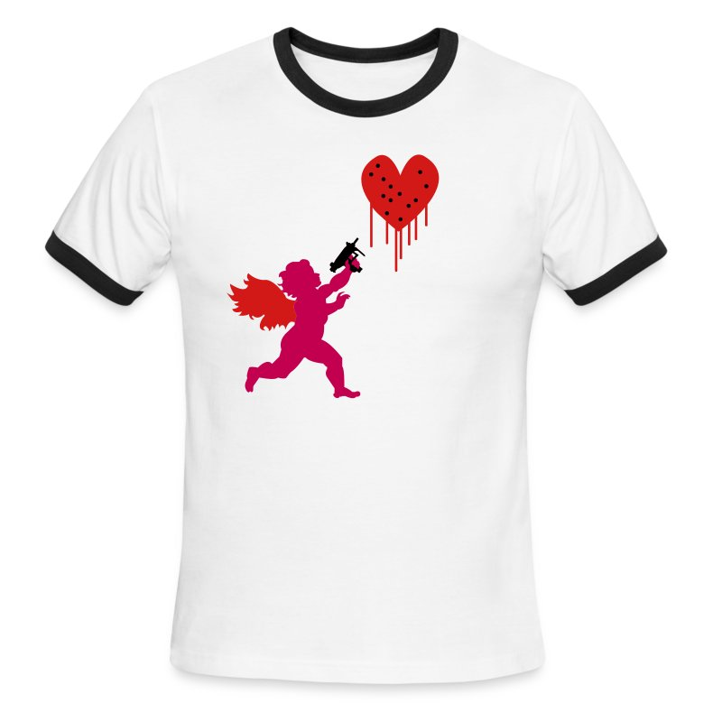 Cupid Uzi - Men's Ringer T-Shirt