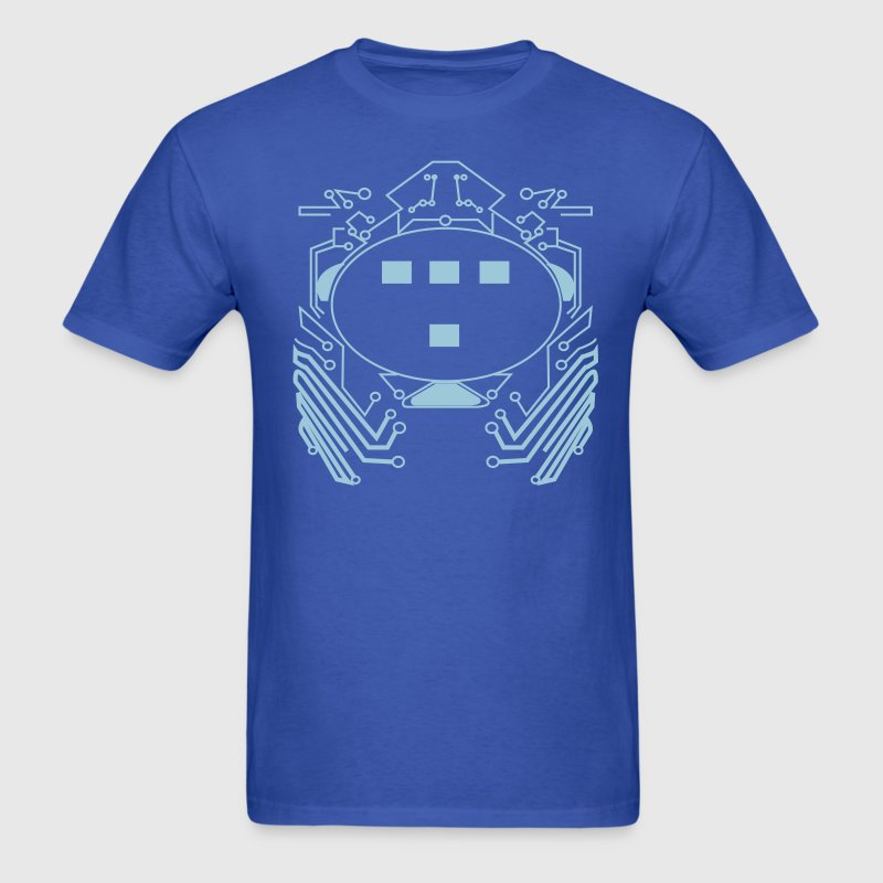 Royal blue Retro 80s Tron Flex Print Design T-Shirts - Men's T-Shirt
