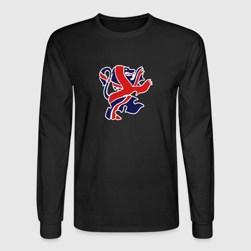 Black British Lion Long sleeve shirts - Men's Long Sleeve T-Shirt