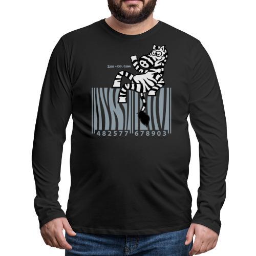 Men's Premium Long Sleeve T-Shirt - Zebra Code