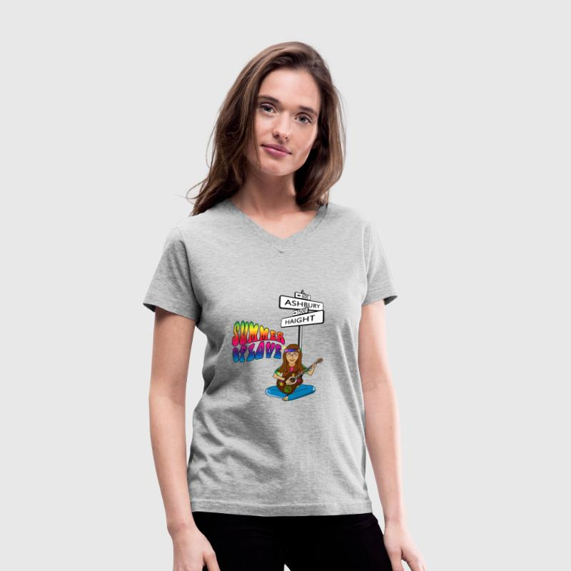 Haight Ashbury Summer of Love Women's V-Neck T-Shirt - Women's V-Neck T-Shirt