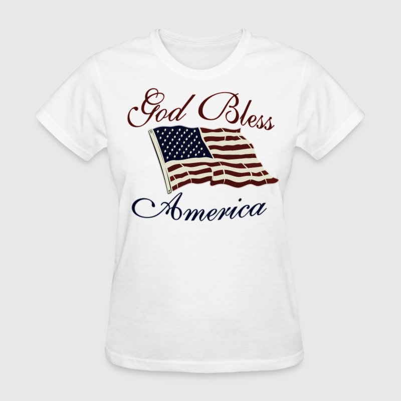 White God Bless America Women's T-Shirts - Women's T-Shirt