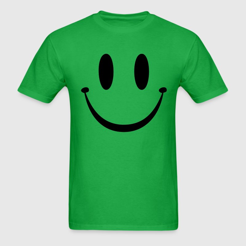 Bright green Smiley Face T-Shirts - Men's T-Shirt