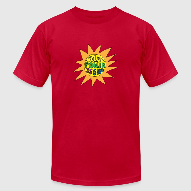 Orange solar power T-Shirts - Men's T-Shirt by American Apparel