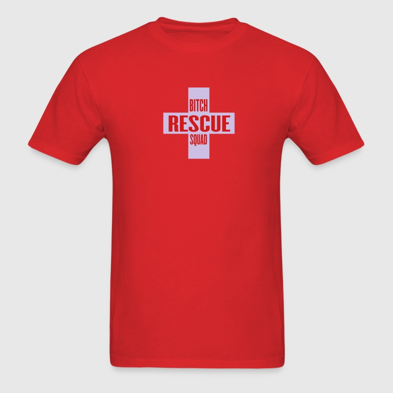 Red bitch rescue squad by wam T-Shirts - Men's T-Shirt