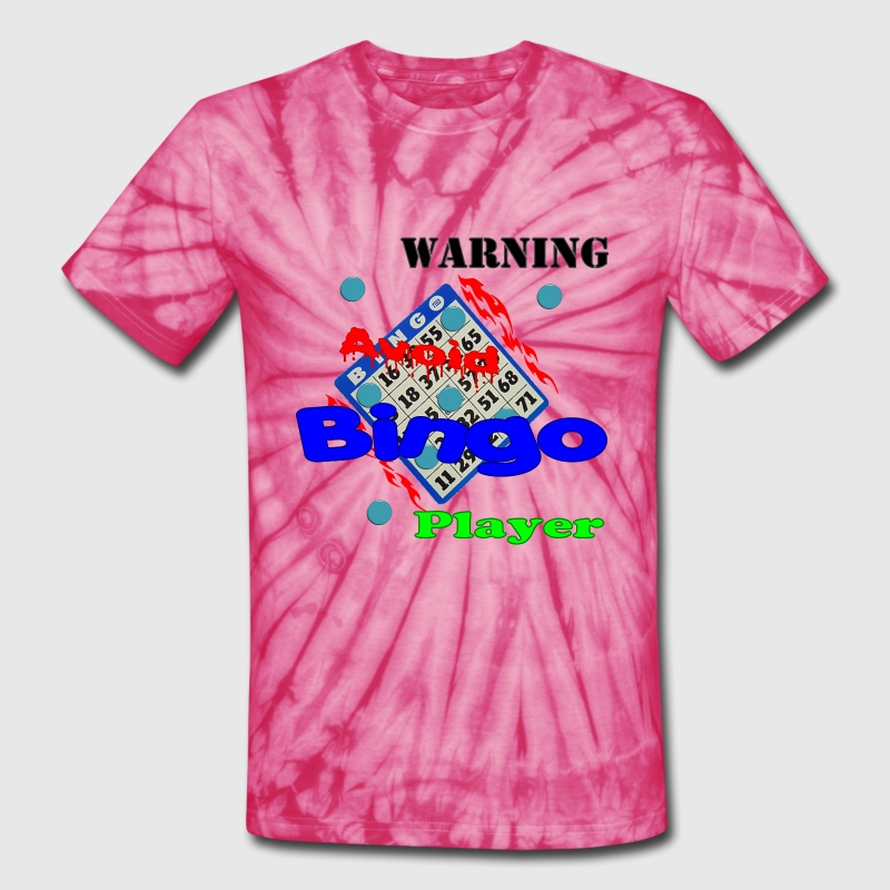 Spider pink Warning Avoid Bingo Player T-Shirts - Unisex Tie Dye T-Shirt