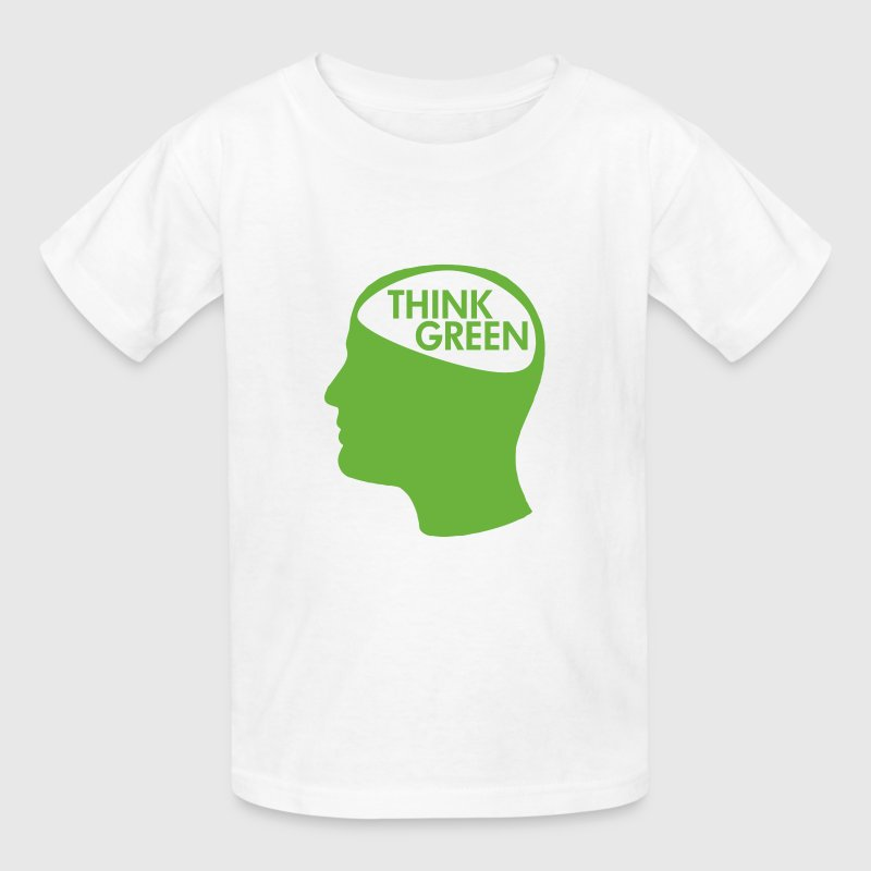 White Think Green Recycle Kids' Shirts - Kids' T-Shirt