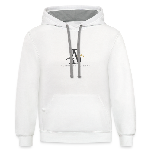 Arbitrage Graphite Logo - Contrast Hoodie