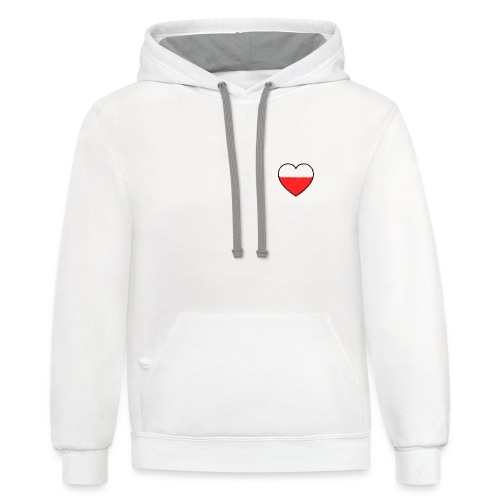 uncompleted heart - Contrast Hoodie