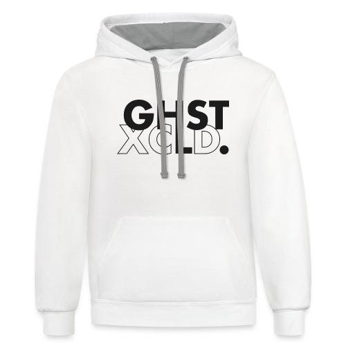 ghst xcld - hoodie - white - Contrast Hoodie