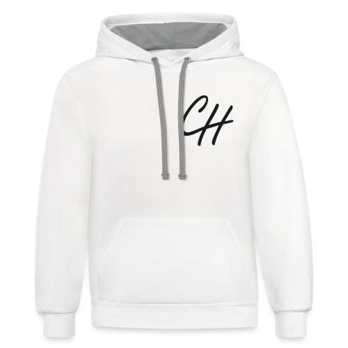 Chris Hampton logo - Contrast Hoodie