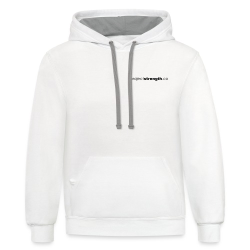 projectstrength.co - plain logo - black - Contrast Hoodie