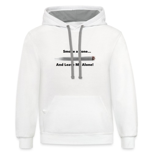 Smoke A Cone T - Contrast Hoodie