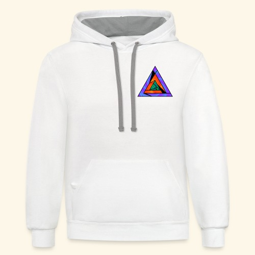 Trippy Triangle - Contrast Hoodie