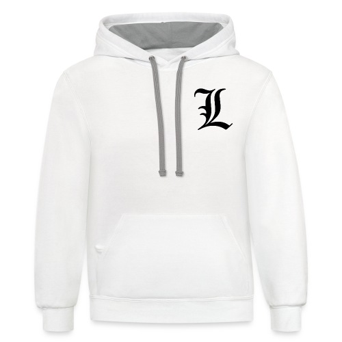 L from death note - Contrast Hoodie