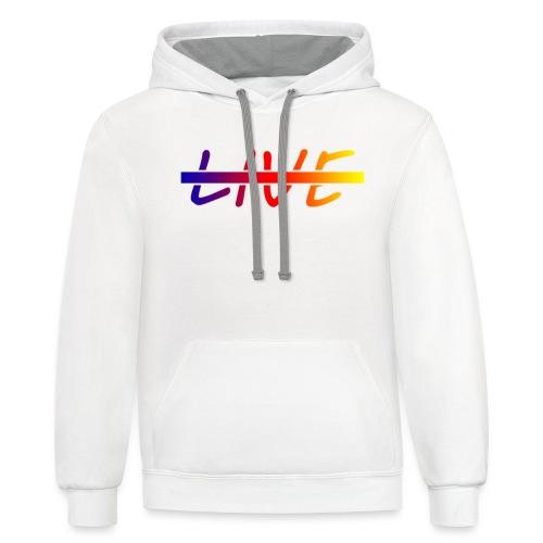 Live Logo Gradient - Contrast Hoodie