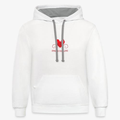 Spread the love - Contrast Hoodie