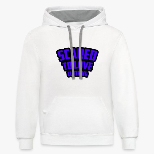 SCARED TO LOVE CLOTHING PURPLE - Contrast Hoodie