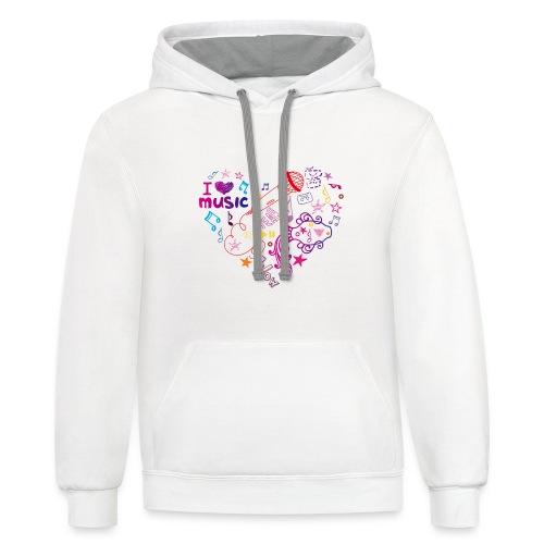 T-shirts music love - Contrast Hoodie
