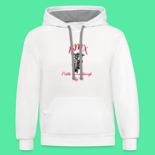 Peddle through life - Contrast Hoodie