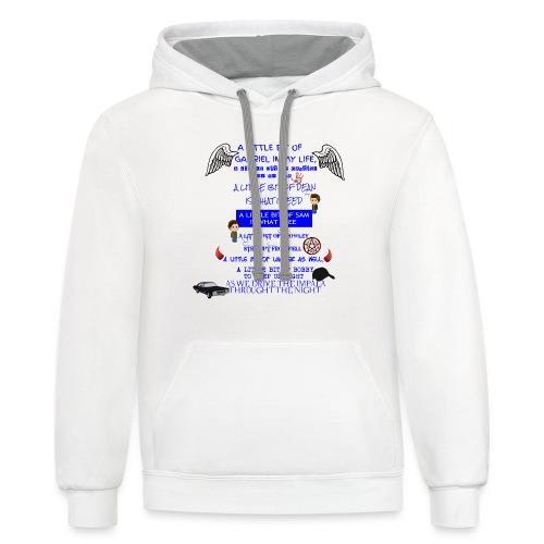Supernatural song spoof shirt - Contrast Hoodie