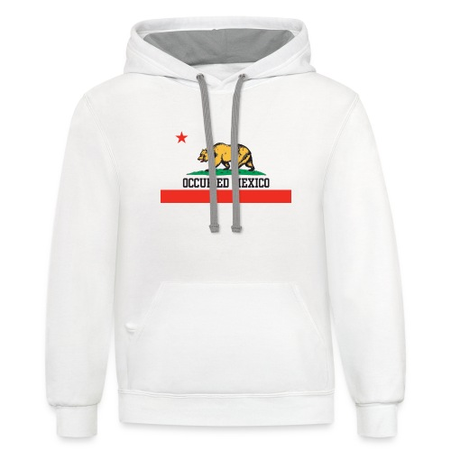 The Real California Flag - Contrast Hoodie