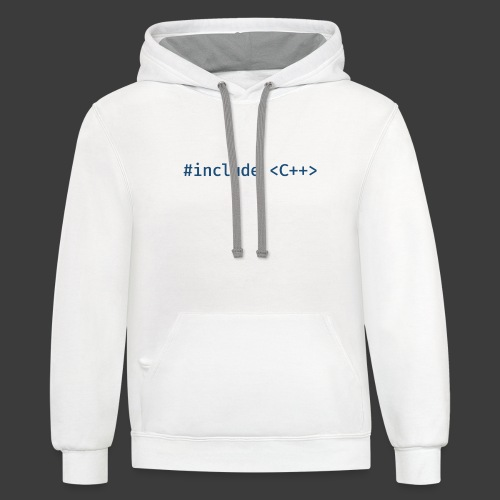 Blue Include Logo - Contrast Hoodie