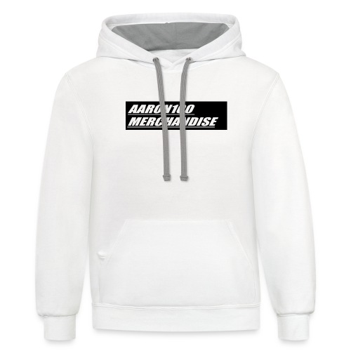 BLACK AND WHITE line aaron100 merchandise - Contrast Hoodie