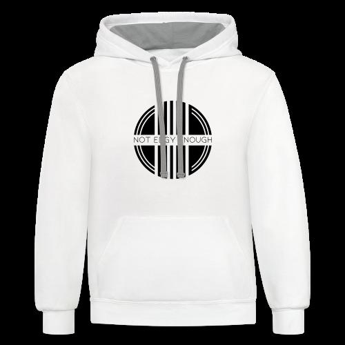 Black logo - Contrast Hoodie