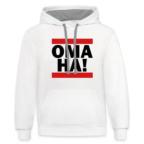 OMAHA Logo Shirt - Contrast Hoodie