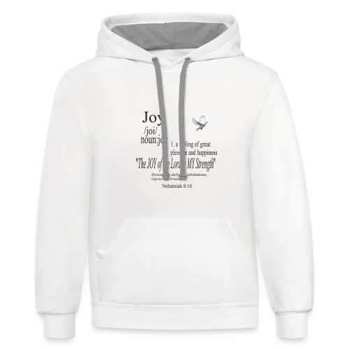 Fruit of the Spirit Collection: Joy - Contrast Hoodie