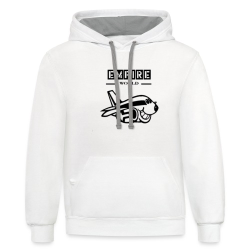 EmpireWorld Airplane resized - Contrast Hoodie