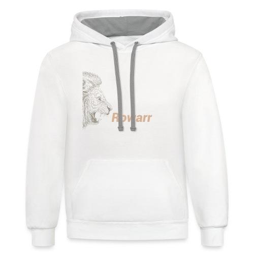 Rowar of the lion - Contrast Hoodie