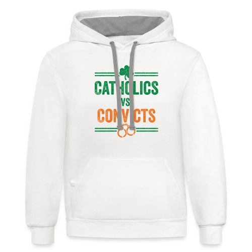 Catholics Vs. Convicts Vintage Classic - Contrast Hoodie