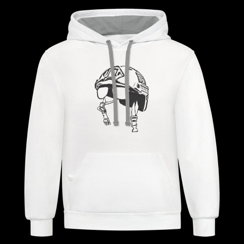 Chin Strap - Contrast Hoodie