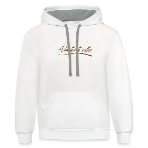 addicted to coffee T-SHIRT - Contrast Hoodie