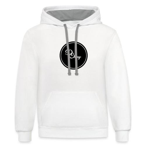 DChay Logo (Black) - Contrast Hoodie