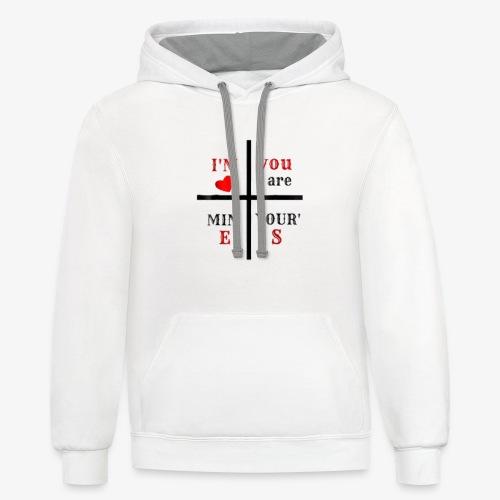 love t-shirt - Contrast Hoodie