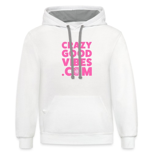 Crazy Good Vibes - by CrazyGoodVibes.Com - Contrast Hoodie