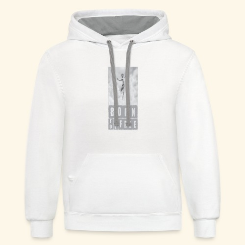 BORN TO BE FREE - Contrast Hoodie